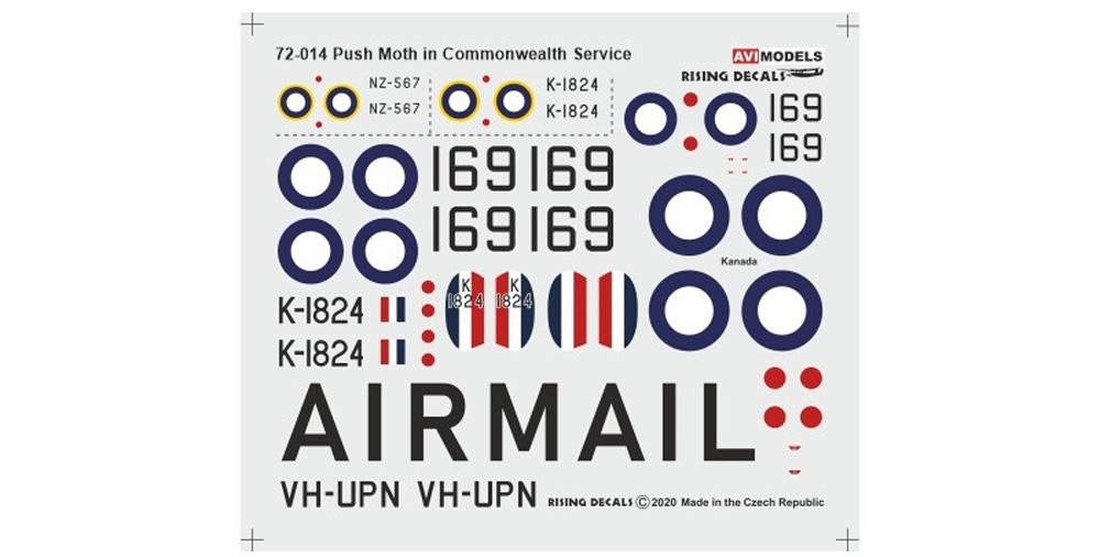 デ・ハビランド D.H.80 プス・モス イギリス連邦プラモデル(AVIモデル1/72 エアクラフト プラモデルNo.AVI72014)商品画像_2