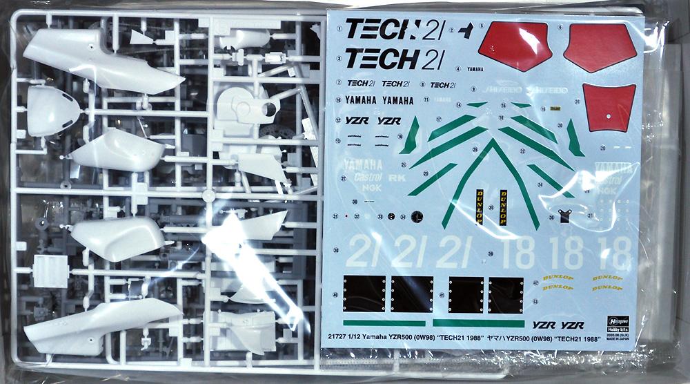 ヤマハ YZR500 (0W98) TECH 21 1988プラモデル(ハセガワ1/12 バイクシリーズNo.21727)商品画像_1