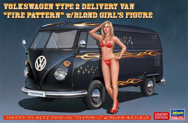 フォルクスワーゲン タイプ 2 デリバリーバン ファイアパターン w/ブロンドガールズフィギュアプラモデル(ハセガワ1/24 自動車 限定生産No.SP464)商品画像