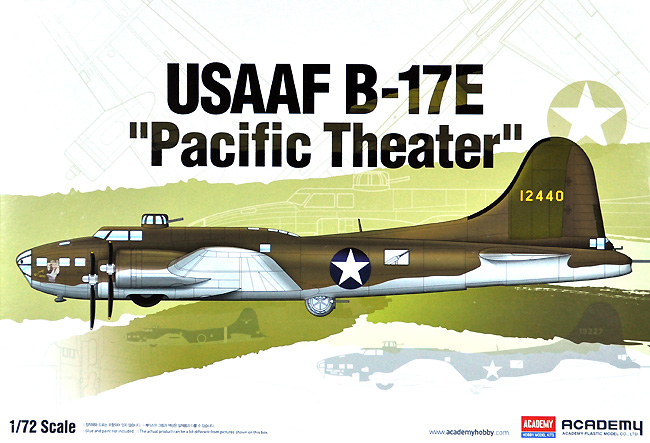 USAAF B-17E 太平洋戦線プラモデル(アカデミー1/72 AircraftsNo.12533)商品画像