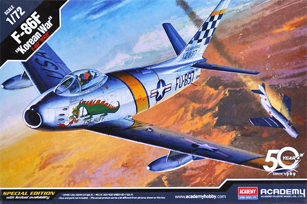 F-86F セイバー 朝鮮戦争プラモデル(アカデミー1/72 AircraftsNo.12456)商品画像
