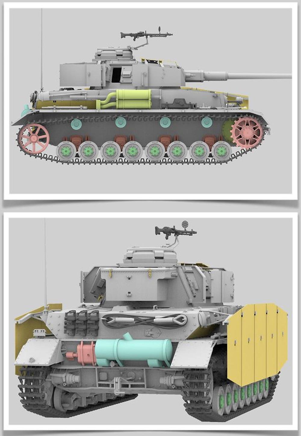 ドイツ 4号戦車H型 初期型 w/連結組立可動式履帯プラモデル(ライ フィールド モデル1/35 Military Miniature SeriesNo.5046)商品画像_3