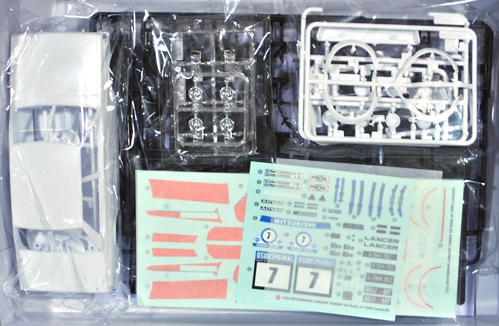 三菱 ランサー ターボ 1982 1000湖ラリープラモデル(NuNu1/24 レーシングシリーズNo.PN24018)商品画像_1