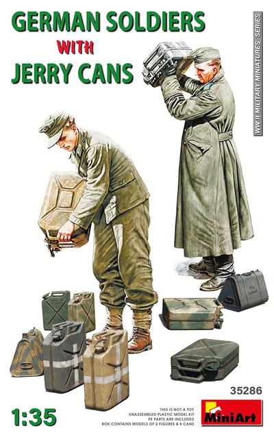 ドイツ兵とジェリカンプラモデル(ミニアート1/35 WW2 ミリタリーミニチュアNo.35286)商品画像