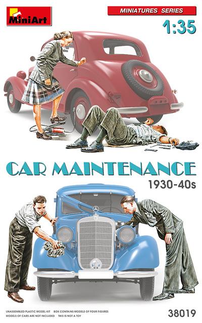 カー メンテナンス 1930-40年代プラモデル(ミニアート1/35 ミニチュアシリーズNo.38019)商品画像