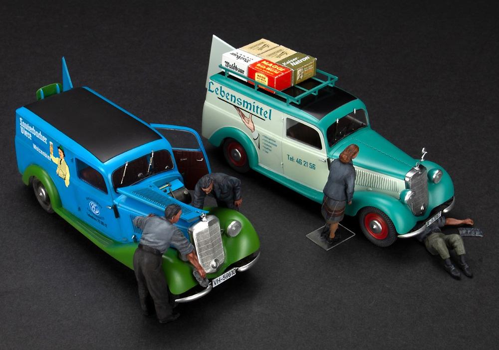 カー メンテナンス 1930-40年代プラモデル(ミニアート1/35 ミニチュアシリーズNo.38019)商品画像_3