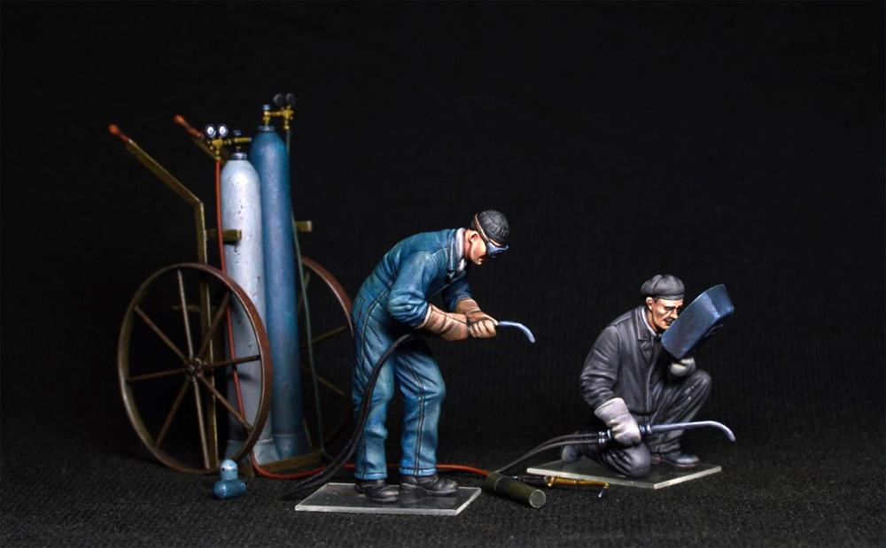 ガス溶接作業者プラモデル(ミニアート1/35 ミニチュアシリーズNo.38039)商品画像_2