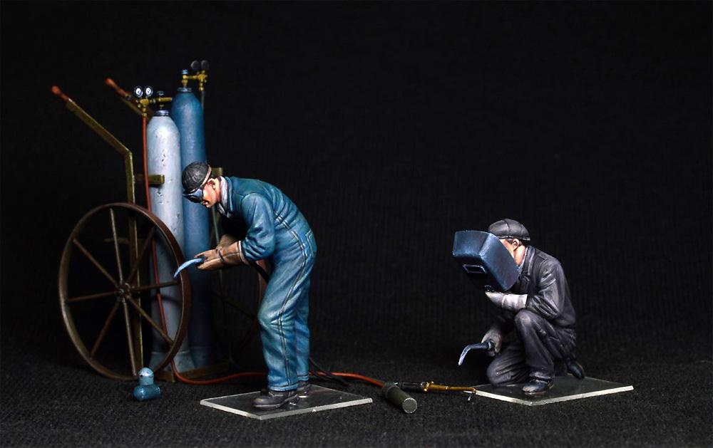 ガス溶接作業者プラモデル(ミニアート1/35 ミニチュアシリーズNo.38039)商品画像_3