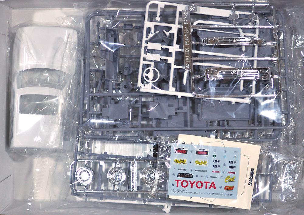 LN107 ハイラックス ピックアップ ダブルキャブ リフトアップ '94 (トヨタ)(プラモデル)(アオシマ1/24 ザ・チューンドカーNo.005)商品画像_1