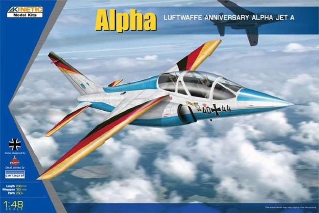 アルファジェット ドイツ空軍プラモデル(キネティック1/48 エアクラフト プラモデルNo.K48087)商品画像