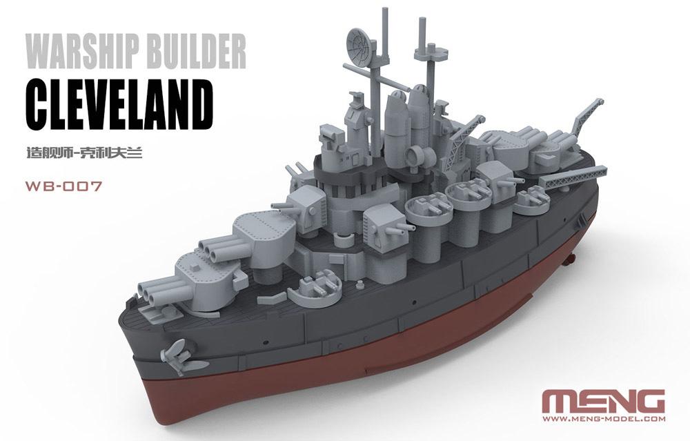 アメリカ軽巡洋艦 クリーブランドプラモデル(MENG-MODELウォーシップビルダーNo.WB-007)商品画像_1