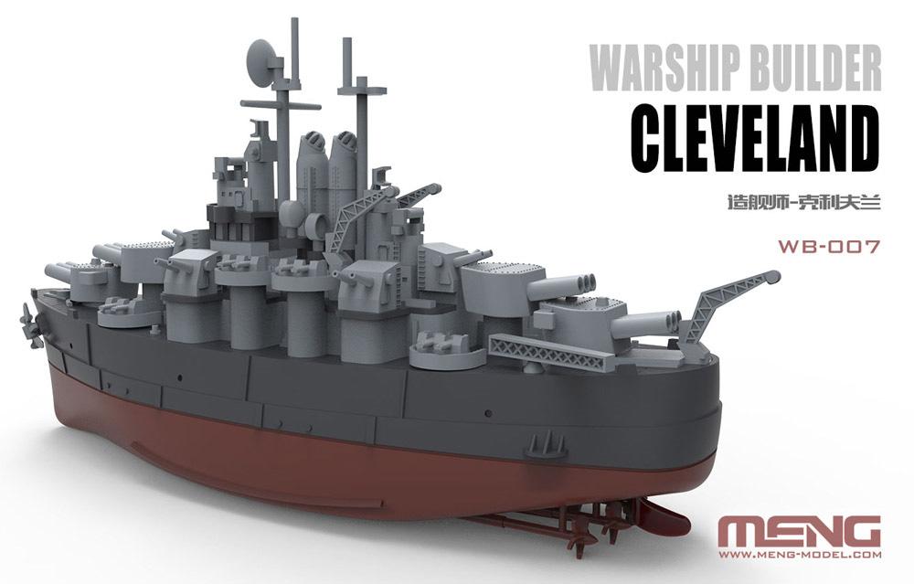 アメリカ軽巡洋艦 クリーブランドプラモデル(MENG-MODELウォーシップビルダーNo.WB-007)商品画像_2
