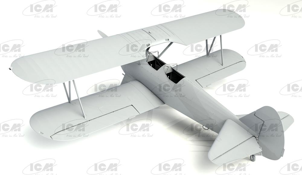 ポリカルポフ I-153 チャイカ w/ソビエトパイロット 1939-42プラモデル(ICM1/32 エアクラフトNo.32013)商品画像_1