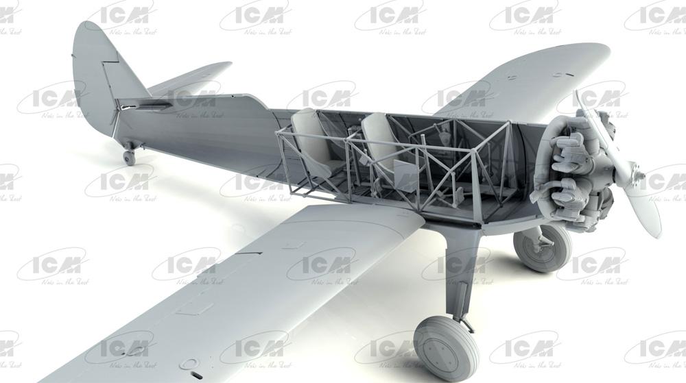 ポリカルポフ I-153 チャイカ w/ソビエトパイロット 1939-42プラモデル(ICM1/32 エアクラフトNo.32013)商品画像_2