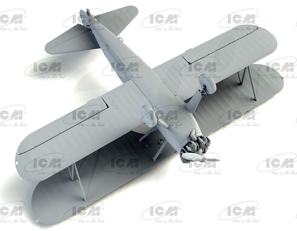 ポリカルポフ I-153 チャイカ w/ソビエトパイロット 1939-42プラモデル(ICM1/32 エアクラフトNo.32013)商品画像_3