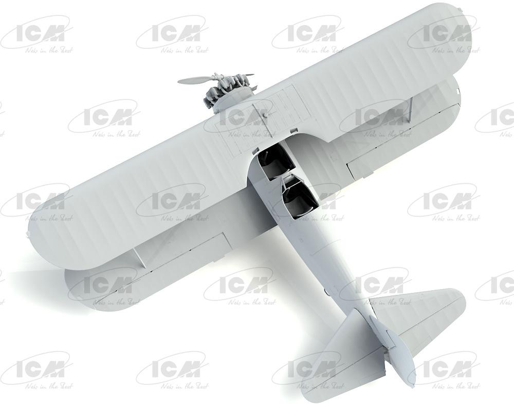 ポリカルポフ I-153 チャイカ w/ソビエトパイロット 1939-42プラモデル(ICM1/32 エアクラフトNo.32013)商品画像_4
