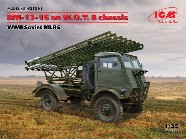 ソビエト BM-13-16 多連装ロケットランチャー W.O.T8車体プラモデル(ICM1/35 ミリタリービークル・フィギュアNo.35591)商品画像