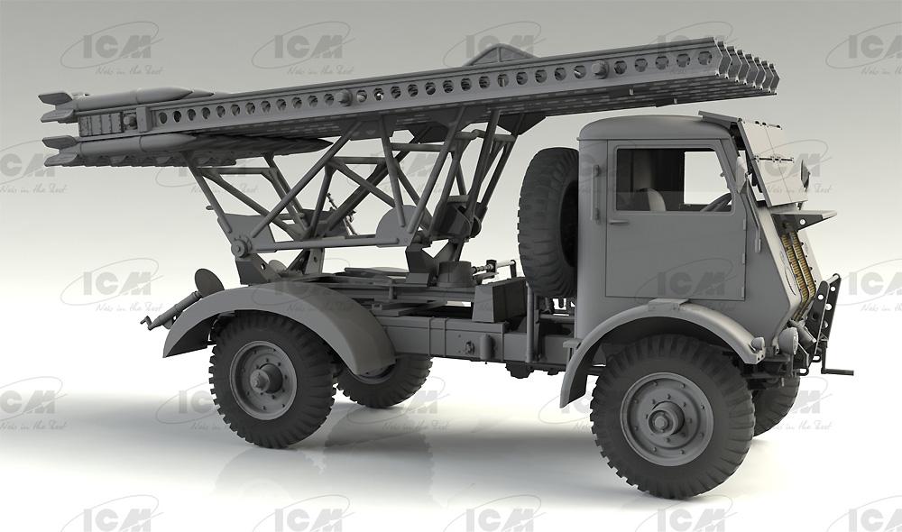 ソビエト BM-13-16 多連装ロケットランチャー W.O.T8車体プラモデル(ICM1/35 ミリタリービークル・フィギュアNo.35591)商品画像_3