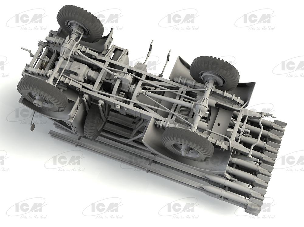ソビエト BM-13-16 多連装ロケットランチャー W.O.T8車体プラモデル(ICM1/35 ミリタリービークル・フィギュアNo.35591)商品画像_4