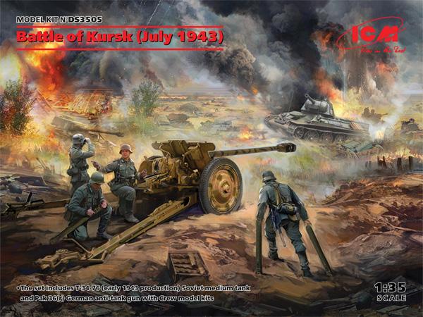クルスクの戦い 1943年6月プラモデル(ICMダイオラマセットNo.DS3505)商品画像