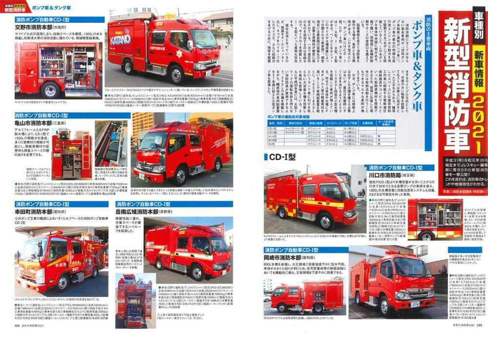 日本の消防車 2021ムック(イカロス出版イカロスムックNo.61857-18)商品画像_4