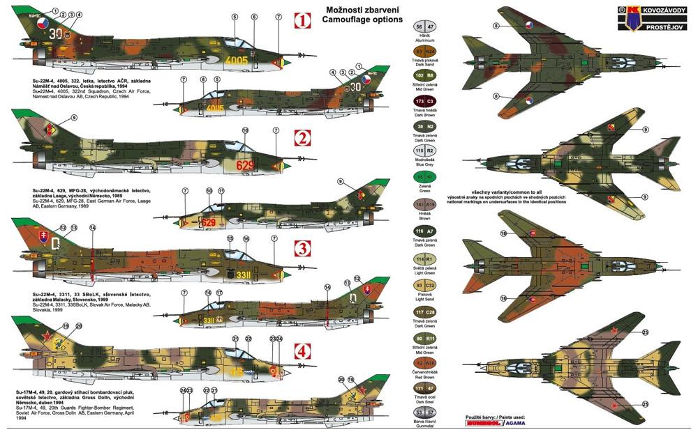 スホーイ Su-22M4 ワルシャワ条約加盟国プラモデル(KPモデル1/72 エアクラフト プラモデルNo.KPM0196)商品画像_1