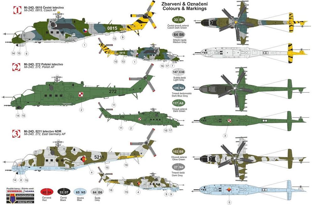 ミル Mi-24D ハインド ワルシャワ条約加盟国プラモデル(KPモデル1/72 エアクラフト プラモデルNo.KPM0199)商品画像_1