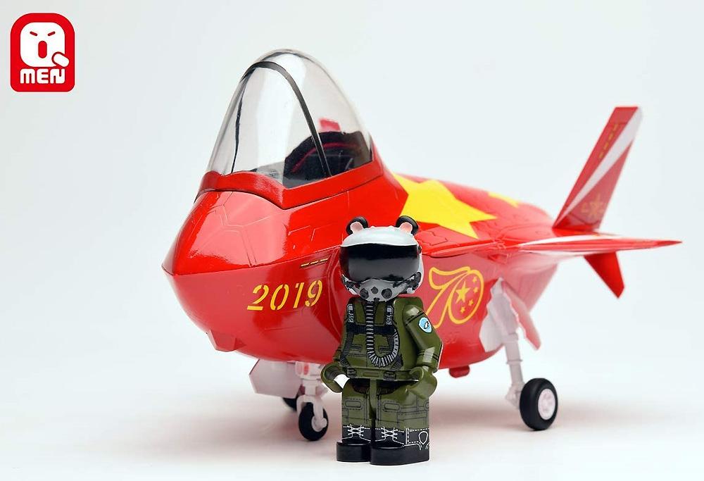 中国空軍 J-20 マイティドラゴンプラモデル(キティホークQ-MENNo.01001)商品画像_3