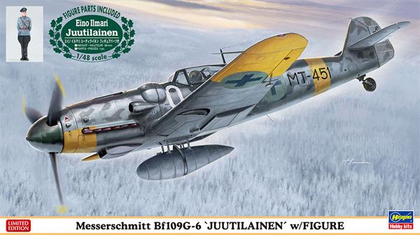 メッサーシュミット Bf109G-6 ユーティライネン w/フィギュアプラモデル(ハセガワ1/48 飛行機 限定生産No.07494)商品画像