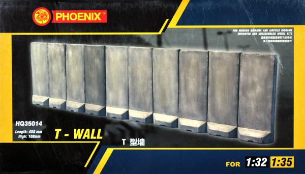 コンクリート 逆T型壁プラモデル(Phoenix ModelジオラマベースNo.HQ35014)商品画像