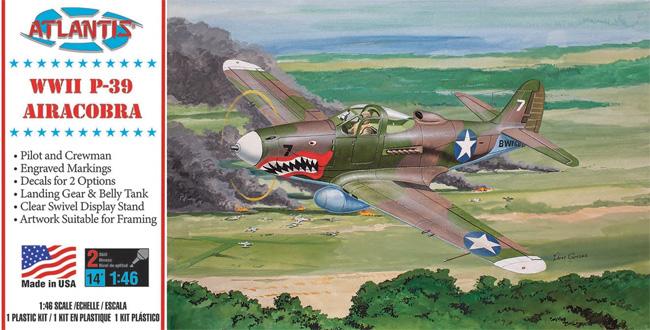 P-39 エアラコブラ (スイベルスタンド付)プラモデル(アトランティスプラスチックモデルキットNo.H222)商品画像