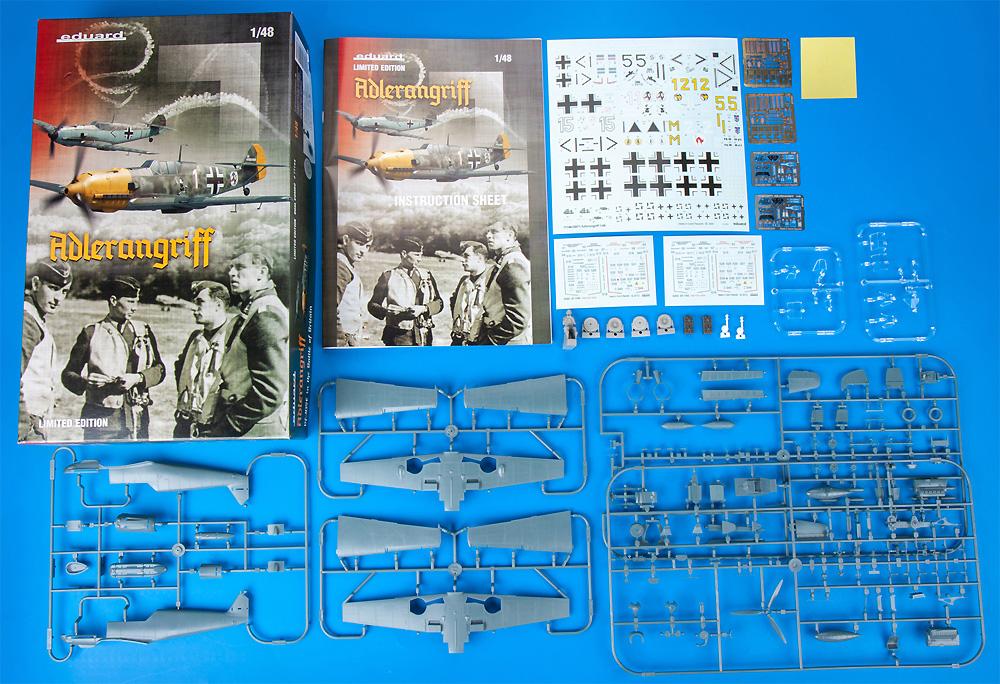 アドラーアングリフ作戦 デュアルコンボ メッサーシュミット Bf109E バトル・オブ・ブリテンプラモデル(エデュアルド1/48 リミテッドエディションNo.11144)商品画像_1