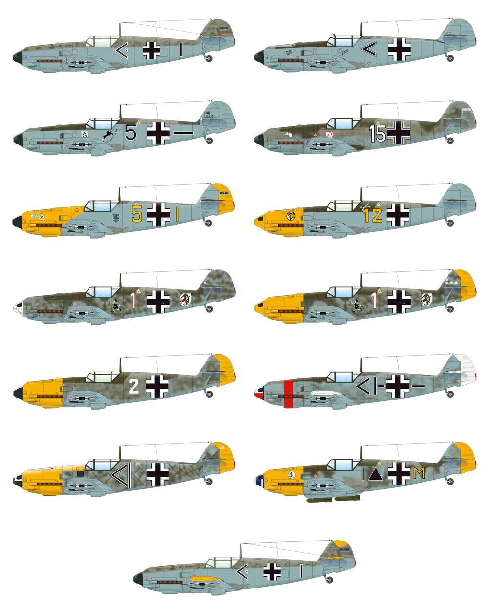 アドラーアングリフ作戦 デュアルコンボ メッサーシュミット Bf109E バトル・オブ・ブリテンプラモデル(エデュアルド1/48 リミテッドエディションNo.11144)商品画像_4