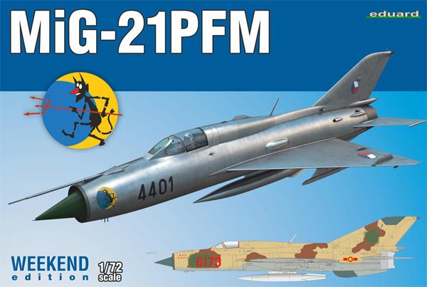 MiG-21PFMプラモデル(エデュアルド1/72 ウィークエンド エディションNo.7454)商品画像