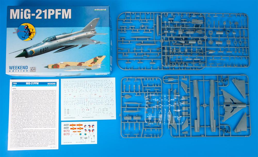 MiG-21PFMプラモデル(エデュアルド1/72 ウィークエンド エディションNo.7454)商品画像_1