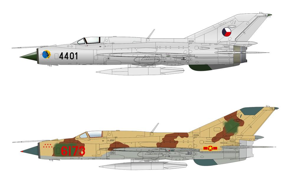 MiG-21PFMプラモデル(エデュアルド1/72 ウィークエンド エディションNo.7454)商品画像_3