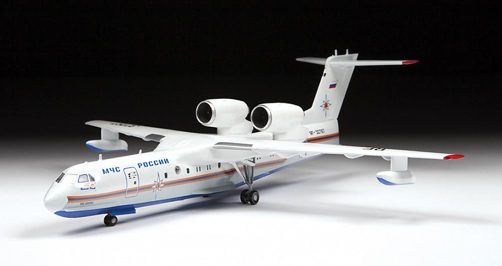 ベリエフ Be-200ES アルタイル 多目的水陸両用機プラモデル(ズベズダ1/144 エアモデルNo.7034)商品画像_4