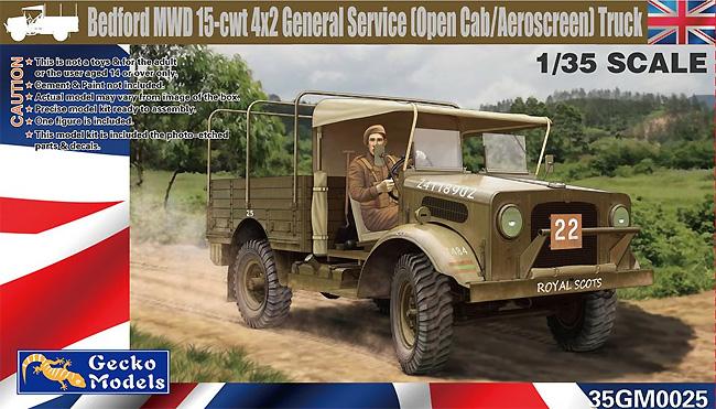 ベッドフォード MWD 15-cwt 4x2 GS トラック (オープンキャブ/エアロスクリーン)プラモデル(ゲッコーモデル1/35 ミリタリーNo.35GM0025)商品画像