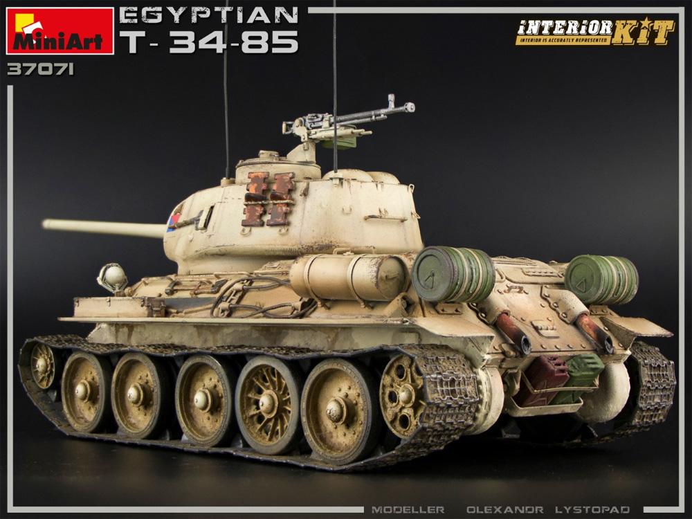 エジプト軍 T-34/85 インテリアキットプラモデル(ミニアート1/35 ミリタリーミニチュアNo.37071)商品画像_4