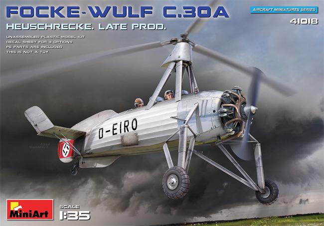 フォッケウルフ C.30A ホイシュレッケ 後期型プラモデル(ミニアートエアクラフトミニチュアシリーズNo.41018)商品画像