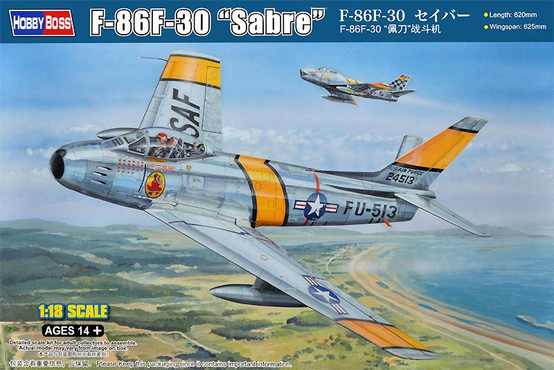 F-86F-30 セイバープラモデル(ホビーボス1/18 エアクラフト シリーズNo.81808)商品画像