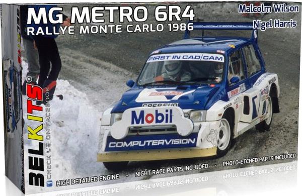 MG メトロ 6R4 ラリー モンテカルロ 1986 マルコム ウイルソン/ナイジェル ハリスプラモデル(BELKITS1/24 PLASTIC KITSNo.BEL-015)商品画像