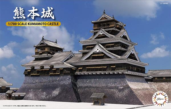 熊本城プラモデル(フジミ名城シリーズNo.001)商品画像