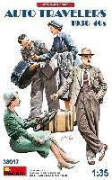 自動車で旅行する民間人 1930-40年代