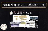 日本海軍 戦艦 霧島 木甲板シール & 艦名プレート