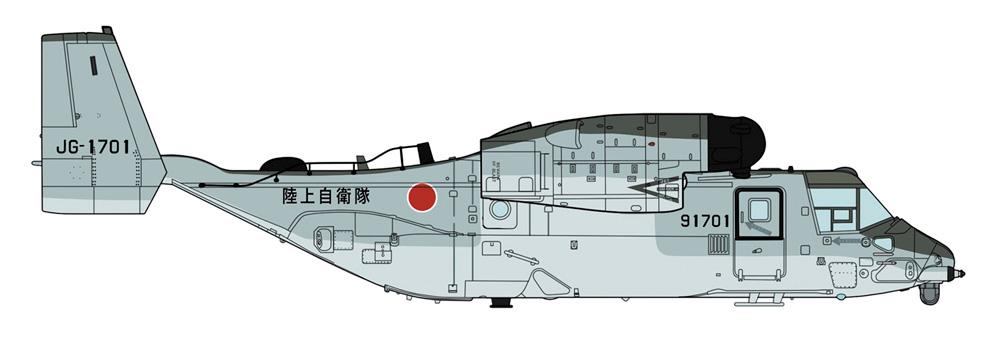 V-22 オスプレイ 陸上自衛隊 輸送航空隊プラモデル(ハセガワ1/72 飛行機 限定生産No.02359)商品画像_2