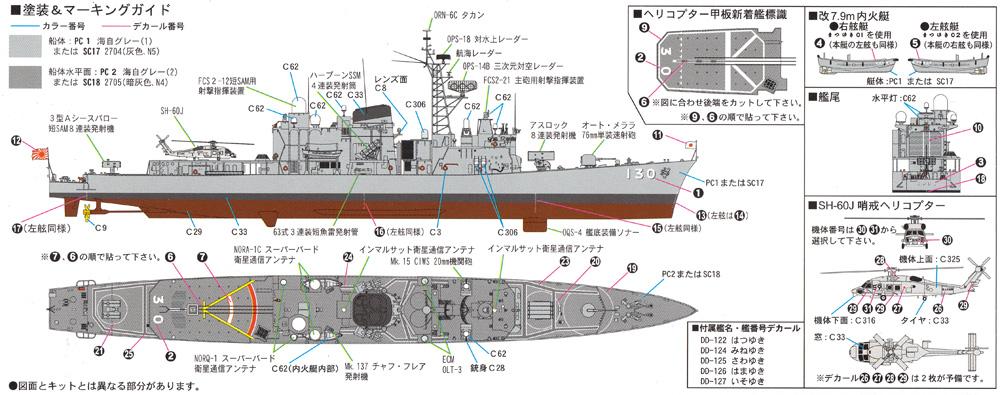 海上自衛隊 護衛艦 DD-130 まつゆき エッチングパーツ付きプラモデル(ピットロード1/700 スカイウェーブ J シリーズNo.J079E)商品画像_1