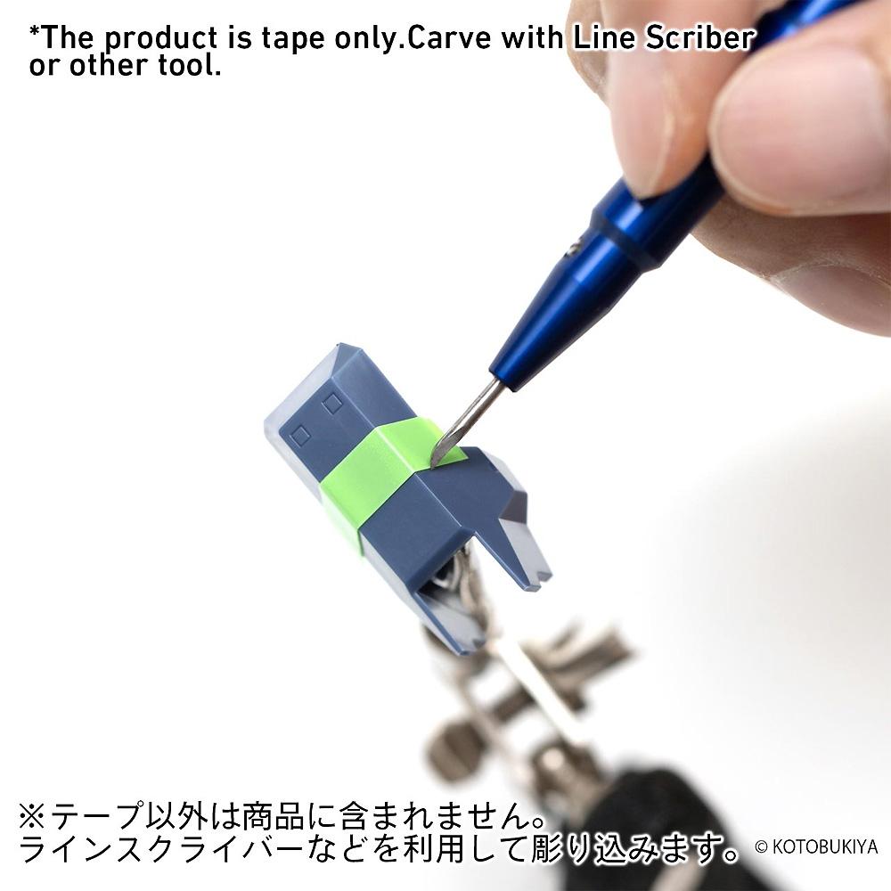 スジボリ用 ガイドテープ ハード 6mm x 3m (2個入)粘着テープ(HIQパーツスジボリ・工作No.HRDT-6MM)商品画像_2