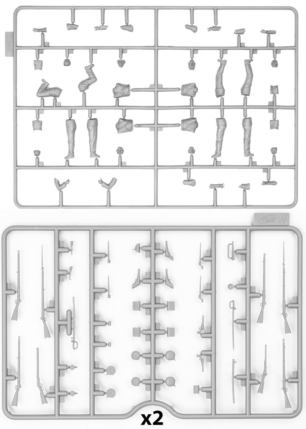 アメリカ 南北戦争 北軍歩兵プラモデル(ICM1/35 ミリタリービークル・フィギュアNo.35020)商品画像_1