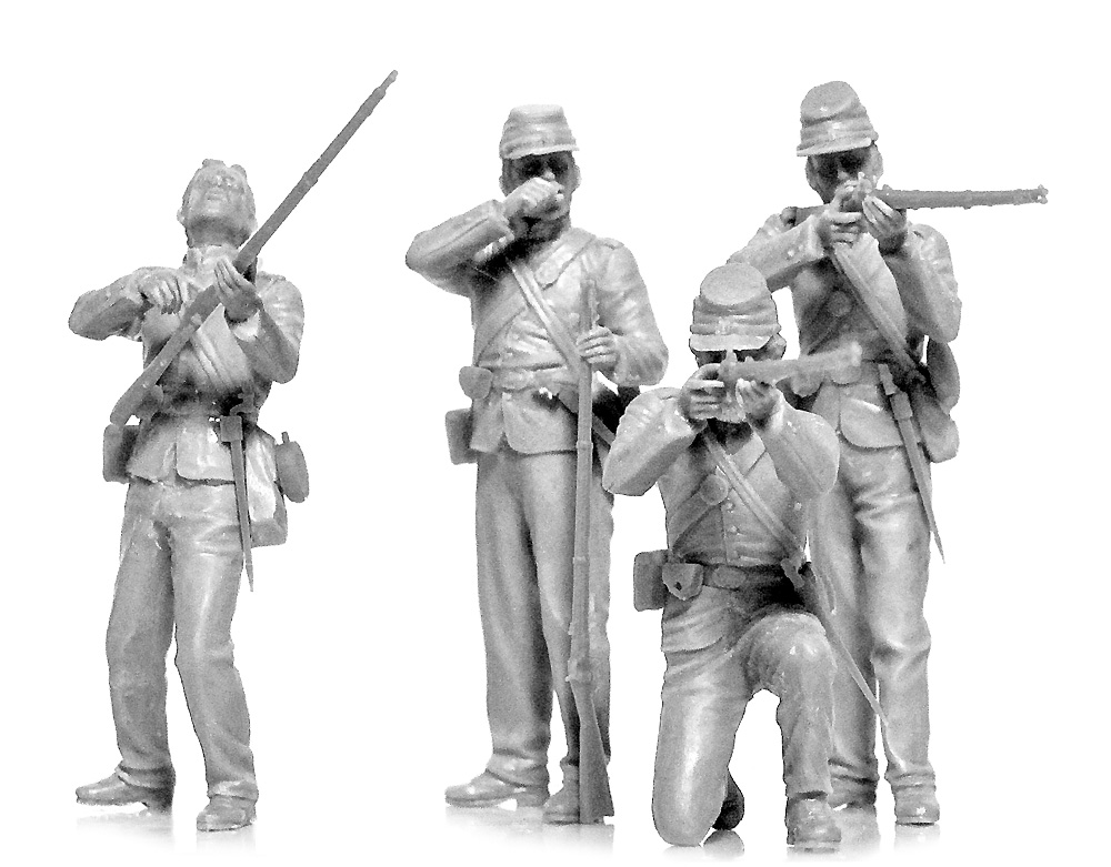アメリカ 南北戦争 北軍歩兵プラモデル(ICM1/35 ミリタリービークル・フィギュアNo.35020)商品画像_2